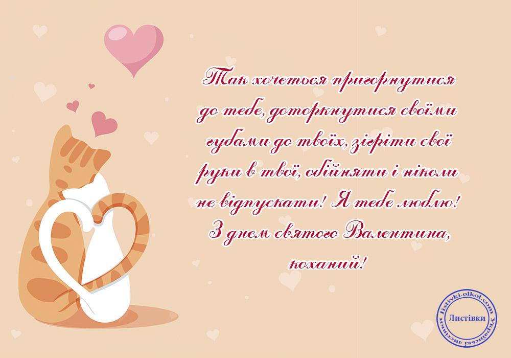 Українська валентинка коханому на День святого Валентина