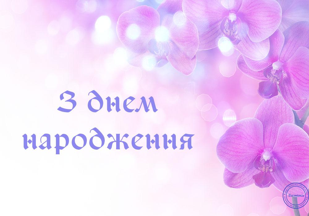 Листівка привітання з Днем Народження