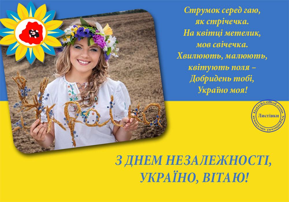 Авторська відкритка з Днем незалежності України