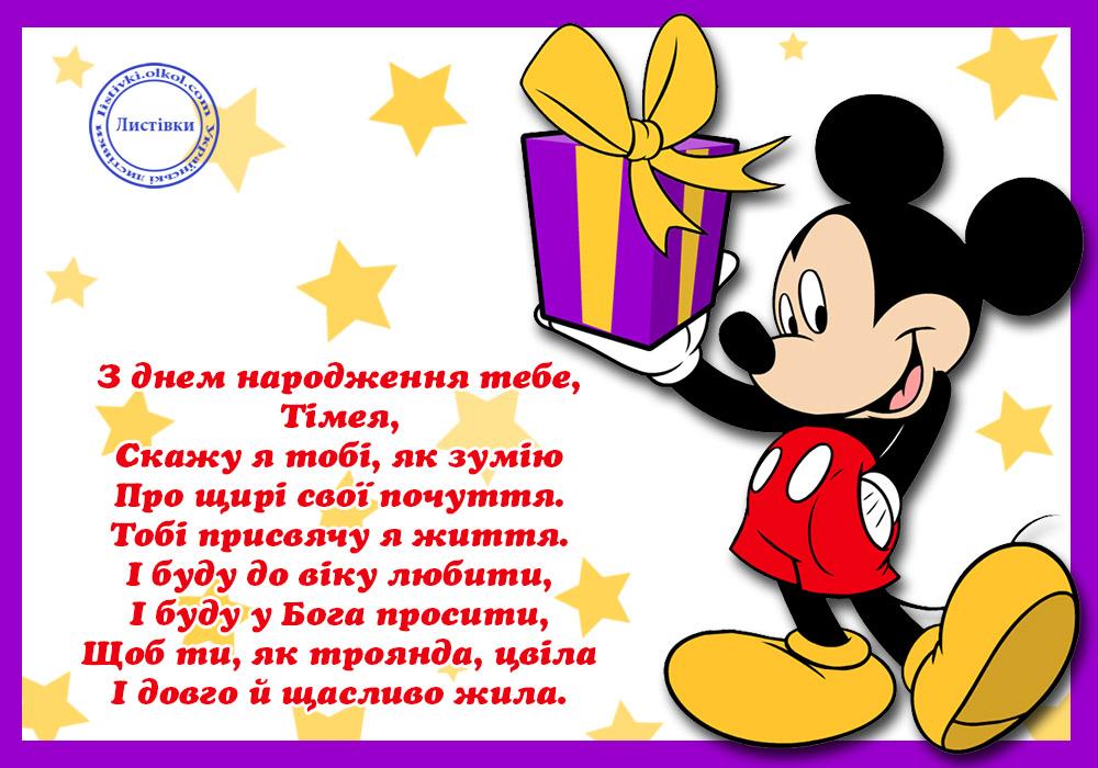 Картинка на українській мові з днем народження Тімеї