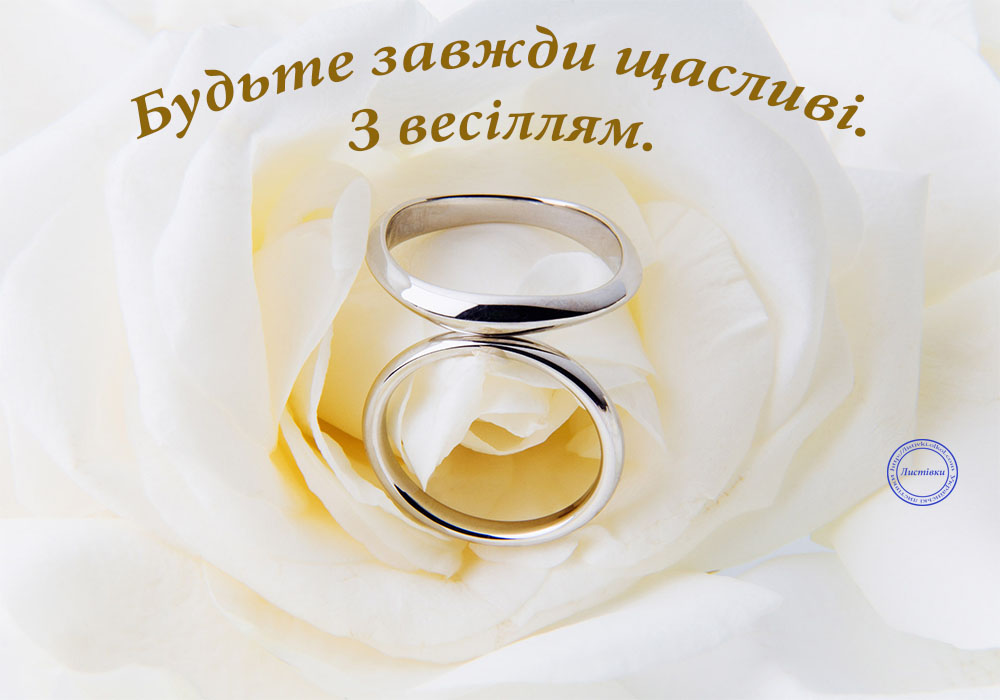 Вітальна відкритка з весіллям